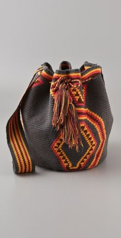 "New Cheap Bags. The location where building and construction meets style, beaded crochet is the act of using beads to decorate crocheted products. ""Crochet"" is derived fro Tapestry Bag, Tapestry Crochet, Crochet Handbags, Crochet Purses, Crochet Bags, Mochila Crochet, Boho Bags, Cheap Bags, Printed Bags"
