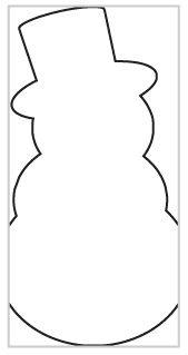 снеговик из бумаги шаблон - Google keresés