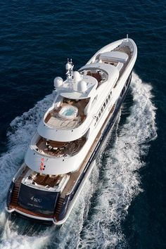 4You built by Heeseen Yachts with interiors by Omega Architects Length 154 feet, 5 cabins, max speed 24 knots