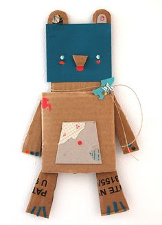 Etsy Huntin: Blanca Helga's Upcycled Paper Creatures Boys With Banjos