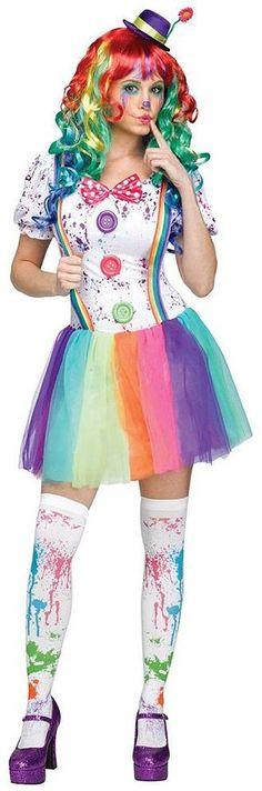 Crazy Color Clown Costume - Adult https://api.shopstyle.com/action/apiVisitRetailer?id=489189152&pid=uid8100-34415590-43