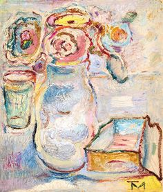 Tóth Menyhért (1904-1980) Virágok vázában Art Gallery, Colorful Art, Still Life, Painting, Art, Color, Colours