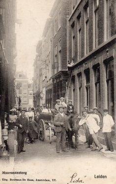 Maarsmansteeg..rond 1900-Leiden the netherlands