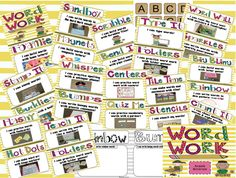 Word Work Ideas