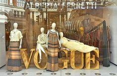 "ALBERTA FERRETTI,Sloane Street, London, UK, ""Celebrating the 100th anniversary of Vogue UK"", pinned by Ton van der Veer"