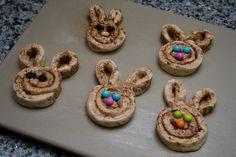 """Cinnabunnies""   Super easy bunny-shaped cinnamon rolls!"