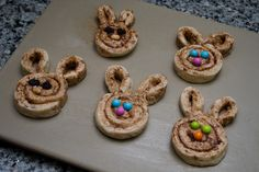 """Cinnabunnies""   Super easy bunny-shaped cinnamon rolls!"