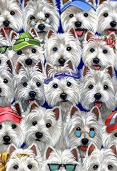 Amazon.com: Suzanne Renaud West Highland Terrier Personality-GF: Outdoor Flags: Posters & Prints