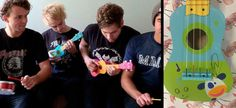 WIN: Michael Clifford's signed mini guitar from our 5SOS play tiny instruments video   - Sugarscape.com