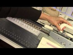 ▶ Waffle Stitch to Machine Knit by Diana Sullivan - YouTube - could be used on standard for a baby blanket