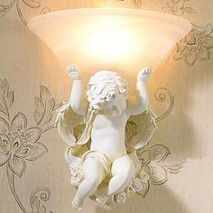 Европейский Стиль Амур Ангел Настенные Светильники Для Дома Расписанную Смолы Светильник Настенный Бра Внутреннее Освещение Lampara Сравнению купить на AliExpress