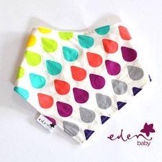 Rainbow Drops Eden Baby Drib Bib. $7.50 plus p&h. www.facebook.com/edenbabydribbibs