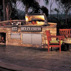 Fancy - Stainless Steel Gas Grill & Rotisserie by DCS