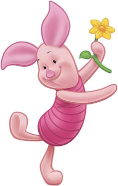 Piglet's always happy ... unless he's a bit worried or confused.