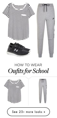 """Community day at school"" by melw44 on Polyvore featuring NIKE, Under Armour and H&M"
