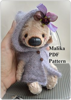 This is a PDF pattern for a fully jointed small Teddy bear Malika - 6.5 inch (16cm) tall. There is NO detailed instruction! You must have some experience in making teddy bear (skill level – easy). This pattern is available as an instant download of a PDF file - two pages A4 (list of materials and pattern). After purchase, you will receive an email from Etsy with a link to download the PDF file. If you need help or you have questions about the bears feel free to email me.