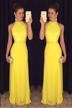 Vestidos 2017 color amarillo http://beautyandfashionideas.com/vestidos-2017-color-amarillo/