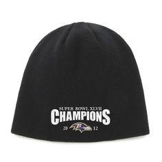 e821cec84 Baltimore Ravens Super Bowl XLVII Champions 47 Brand Knit Hat - Black  Sports Equipment