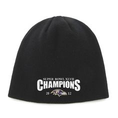 Baltimore Ravens Super Bowl XLVII Champions 47 Brand Knit Hat - Black