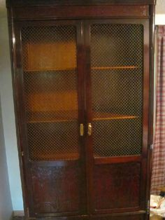 Found on EstateSales.NET: This wardrobe-cabinet breaks down. For traveling.