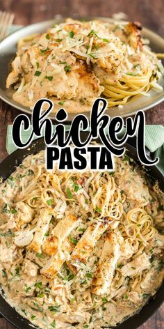 You Have Meals Poisoning More Normally Than You're Thinking That Dinner In 30 Minutes With This Creamy Italian Chicken Pasta Recipe. Pressed With Flavor From Spinach, Garlic, And Sun Dried Tomatoes, Your Family Will Gobble This Easy Dinner Right Up Garlic Chicken Pasta, Creamy Italian Chicken, Chicken Pasta Recipes, Italian Chicken Recipes, Italian Pasta, Entree Recipes, Cooking Recipes, Quick Pasta Recipes, Noodle Recipes