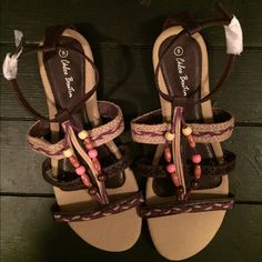 Sale! Beaded Sandles No flaws.  Never worn. Shoes Sandals