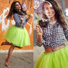 Loving this bright tutu and plaid combo by @iamnicoletteb!