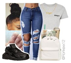 """Untitled #46"" by ronkexx12 ❤ liked on Polyvore featuring Topshop, NIKE and BP."