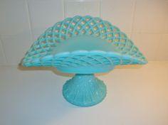 Vintage Fenton Turquoise Blue Milk Glass by WintervilleWonders, $200.00
