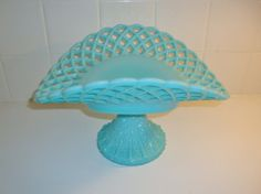 Vintage Fenton Turquoise Blue Milk Glass by WintervilleWonders, $200.00