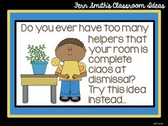 Tuesday Teacher Tips: Classroom Helpers #TeachersFollowTeachers
