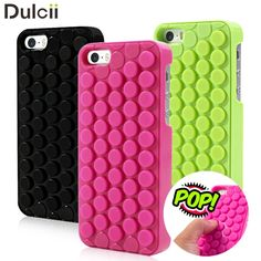 Funda Coque for Apple iPhone 5s 5 SE Hybrid Cases Novelty for iPhone SE 5s 5 i5 i5s Cover Pop Sound Bubble Wrap Phone Case Shell