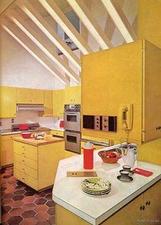 70s yellow kitchen