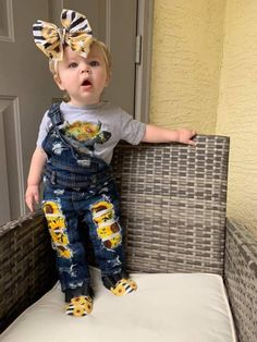 Sunflower Overall Preorder Image of Sunflower Overall Preorder - Unique Baby Outfits