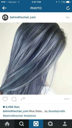 Gorgeous slate blue hair