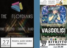 Il meglio dei mitici Pink Floyd e Vasco Rossi. #Concerto rock sabato 27 febbraio 2016 a #Bitritto (Ba)