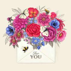 Blossom envelope - Thank You Card #greetingcards #printable #diy #thankyou #notes #thanks Valentines Day Card Templates, Thank You Card Template, Valentine Day Cards, Thank You Notes, Thank You Cards, Printable Cards, Printables, Create Yourself, Envelope
