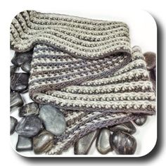 Men's Reversible Ribbed Crochet Scarf - Free Pattern from Expression Fiber Arts
