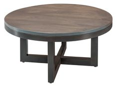 Amish Xcell Round Coffee Table Amish contemporary style living room furniture. Choose the wood and finish to create your favorite look.