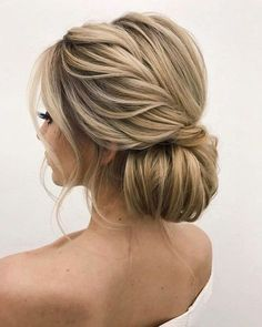 Twisted low bun updo Hochzeitsfrisur 2019 - wedding and engagement 2019 Fancy Hairstyles, Wedding Hairstyles, Layered Hairstyles, Hairstyles Haircuts, Wedding Hair And Makeup, Hair Makeup, Makeup Hairstyle, Hairstyle Ideas, Peinado Updo