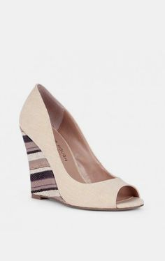 Peep toe wedges - Aisling - Taupe