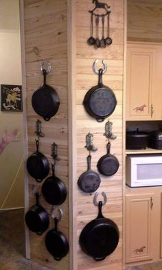 Trendy Pots And Pans Storage Diy Organizers Rustic Kitchen, Country Kitchen, Diy Kitchen, Kitchen Decor, Kitchen Design, Kitchen Ideas, Iron Storage, Diy Storage, Kitchen Organization