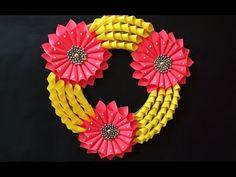 Beautiful DIY Paper Wreath Idea for Christmas Decoration | DIY Christmas Craft Home Decor - YouTube