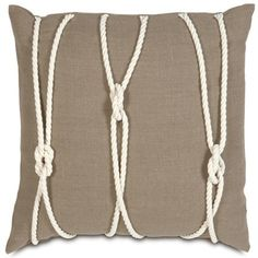 Yacht Knots Designer Pillow design by Studio 773 | BURKE DECOR - awesome!!!