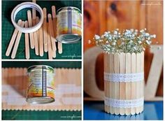 diy and creatividad 圖片 – DIY Home Decor Popsicle Stick Crafts, Craft Stick Crafts, Diy Para A Casa, Diy For Kids, Crafts For Kids, Diy Home Crafts, Diy Art, Diy Room Decor, Home Decor