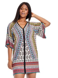 6bdb417d32b44e Shift Dress In Patchwork Print by @londontimes Available in sizes 10-16 and  14W