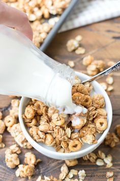 This Peanut Butter and Honey Cheerios™ Granola is full of big, crunchy clusters! Just 5 ingredients and 10 minutes prep time!