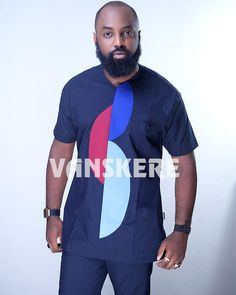 #vanskereclassic #style #pattern #colour #colourmix #fashion #MensWearFashion #MensWearStyle #urbanafricanstyle #Vanskere #vanskererocks Nigerian Men Fashion, African Print Fashion, Africa Fashion, African Attire, African Wear, African Dress, Nice Clothes For Men, Ankara Styles For Men, African Shirts
