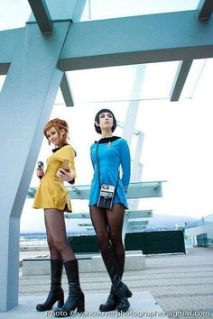 Fem Kirk and Spock? Um YES PLEASE. Just make the dresses a little longer and I'm all in
