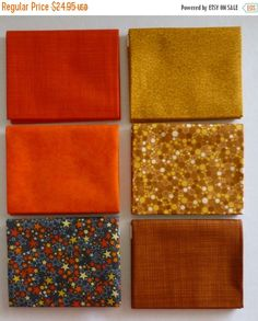 FLASH SALE - Basically Patrick Lose by RJR Fabrics~Cotton Fabric, Brown~Fat Quarter Bundle of 6~Fast Shipping Fq530